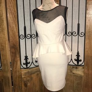 Sexy peplum bodycon dress by poof couture